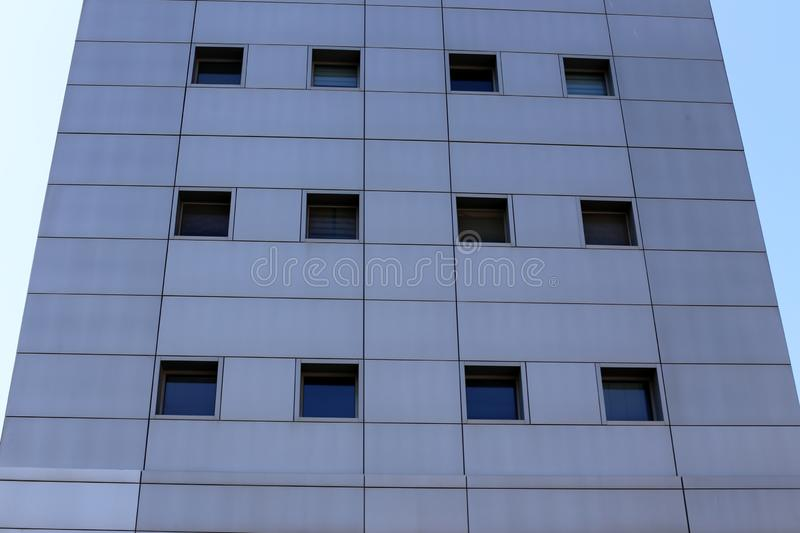 Small window in a big city stock image