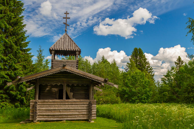 Small wooden chapel, Finland stock images