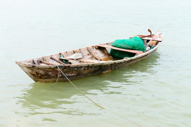 Download Small wooden fishing boat stock photo. Image of tranquil - 106387446