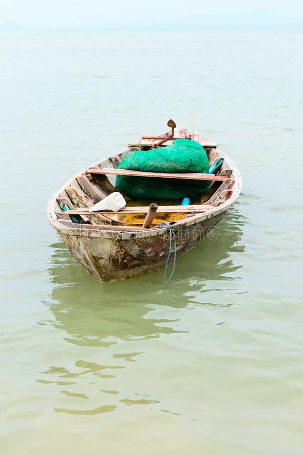 Download Small wooden fishing boat stock photo. Image of transport - 106387720
