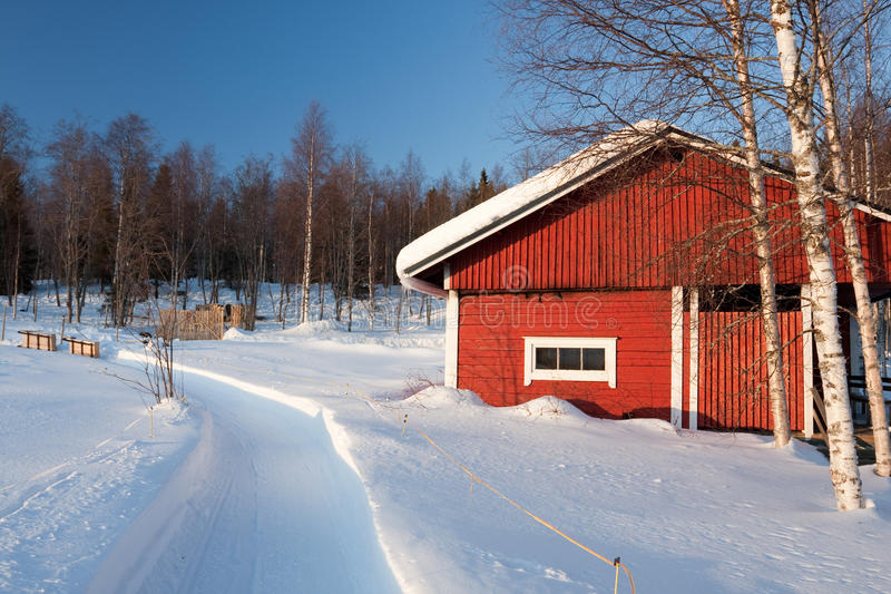 Download Small Wooden House In Winter. Stock Image - Image: 14250345