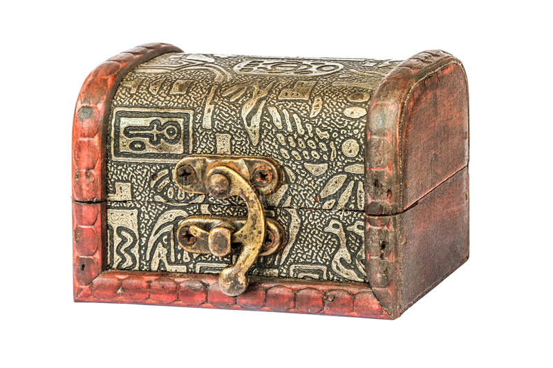 Small wooden Treasure Chest royalty free stock images