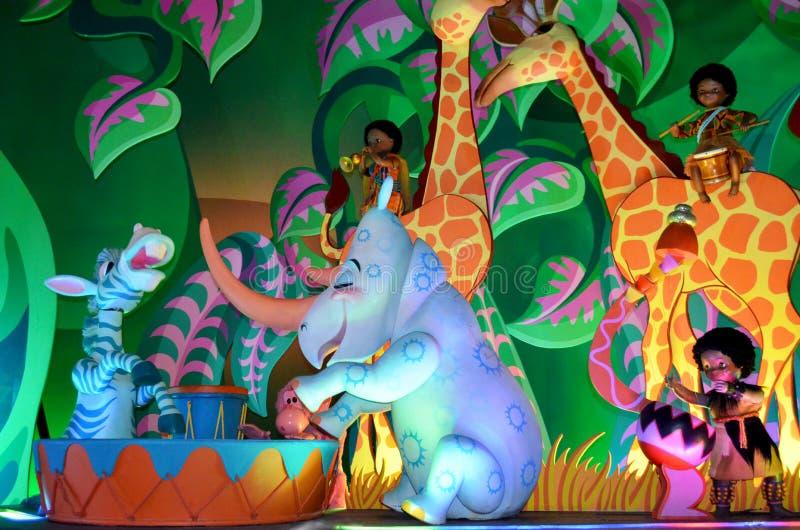 Small world. France. Paris. Circa June 2013 Disneys Its a small world attraction in Paris Disneyland royalty free stock photos