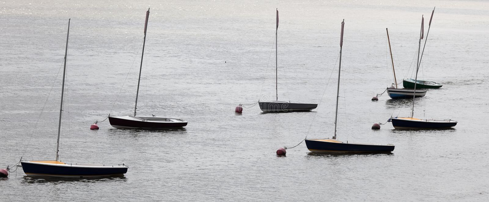 Small Yachts On The River Thames. London. UK Royalty Free Stock Photos