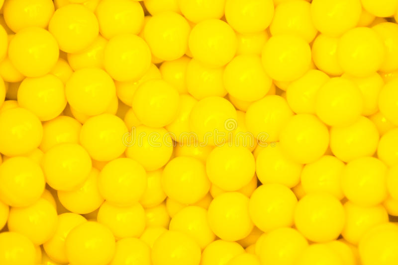 Small yellow balls royalty free stock photos