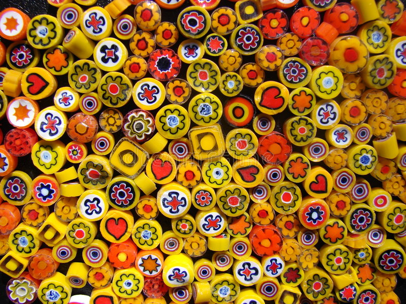 Small yellow beads stock photography