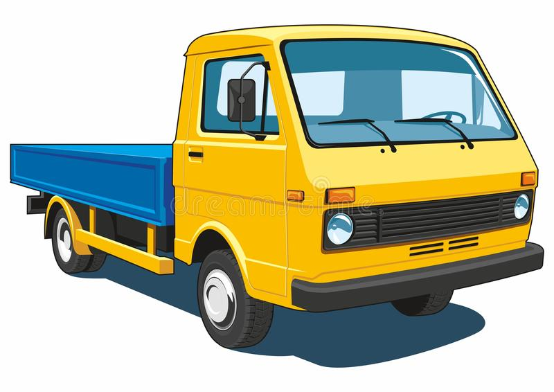 Small yellow truck royalty free stock images