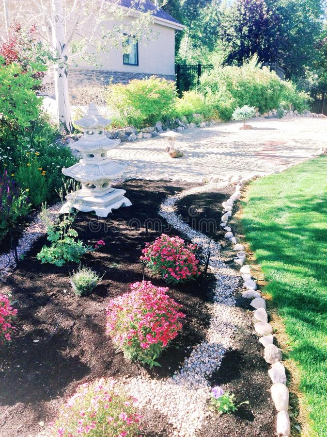 Download Small Zen Garden Stock Image. Image Of Front, Yard, Lawn   44405343