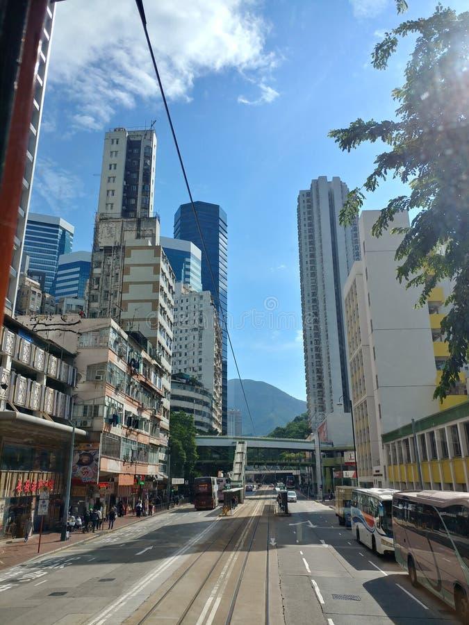 Smalle Straat van Hong Kong royalty-vrije stock fotografie