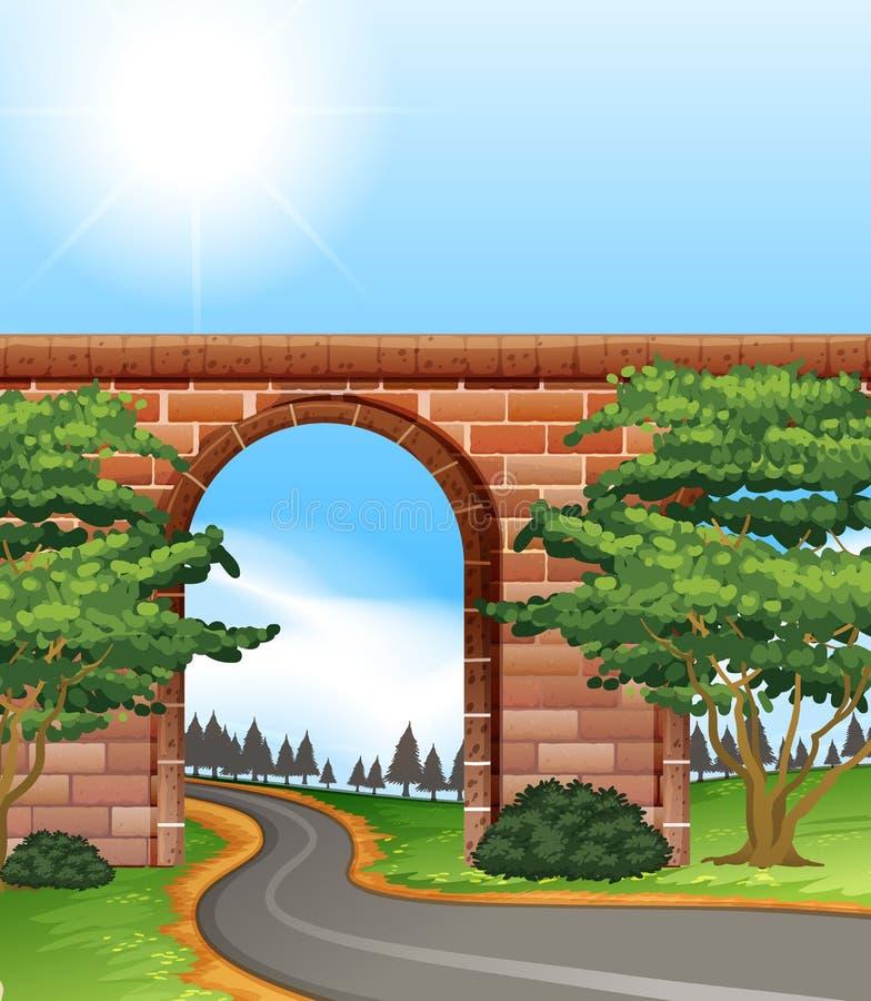 Smalle weg royalty-vrije illustratie