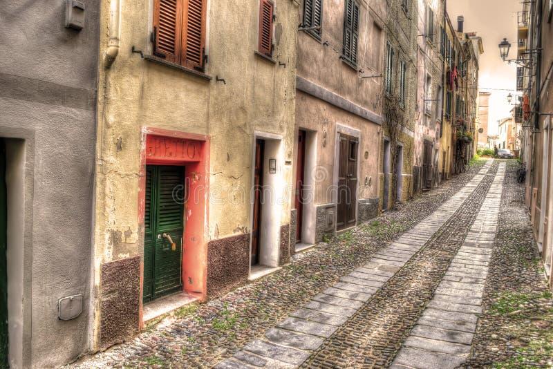 Download Smalle Weg In Alghero Oude Stad Stock Afbeelding - Afbeelding bestaande uit steen, mening: 54088331