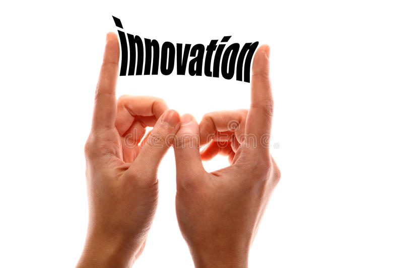 Smaller innovation concept stock image