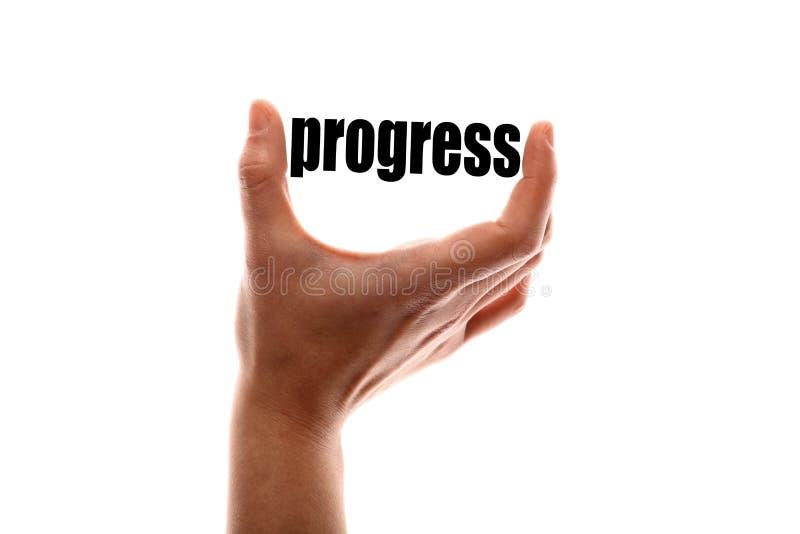 Smaller progress stock photo