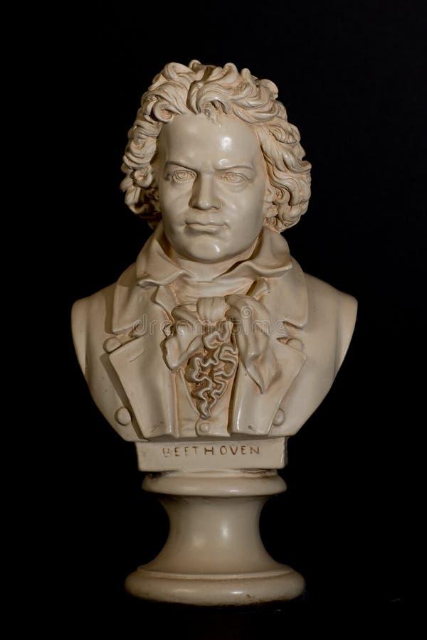 Smaller Statue of Ludwig Van Beethoven. Ludwig Van Beethoven in small statue royalty free stock image