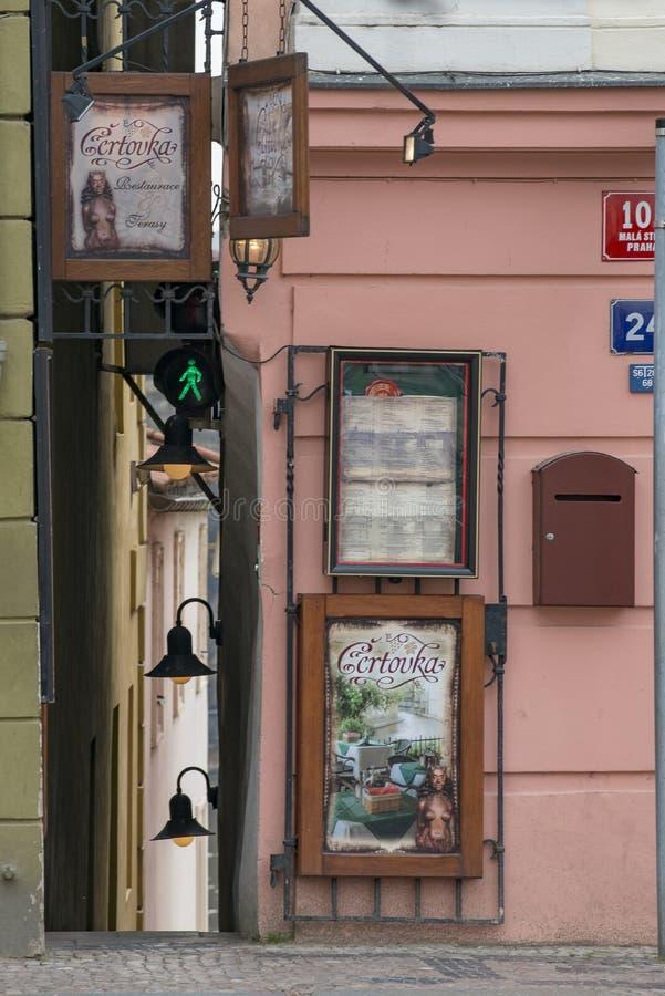 Smallesstraat Praag stock fotografie