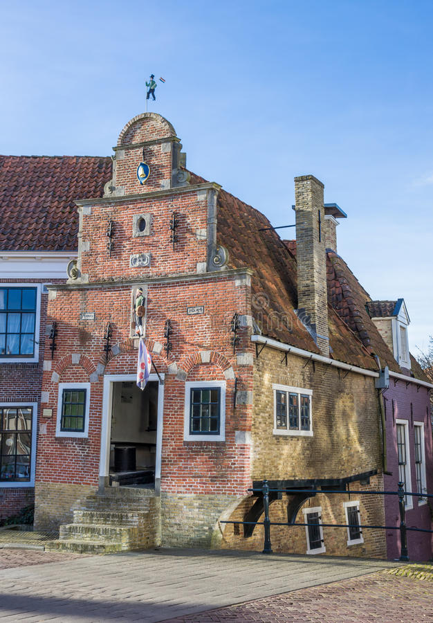 Smallest house of historic city Franeker royalty free stock images