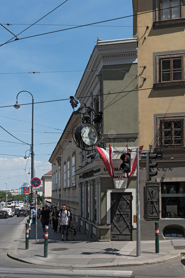 The smallest house of Vienna, Austria stock photography