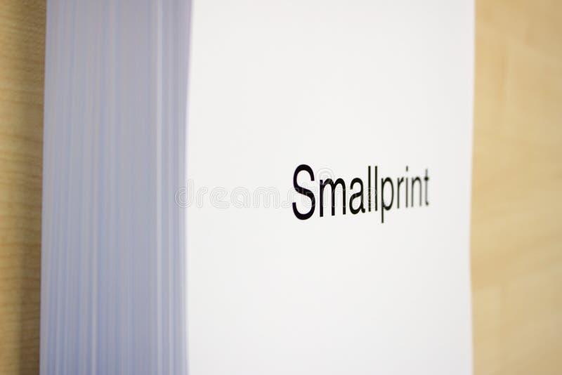 Smallprint stock afbeelding