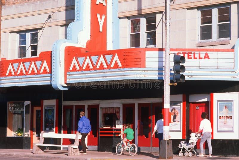 Smalltown Filmtheater, stockbilder