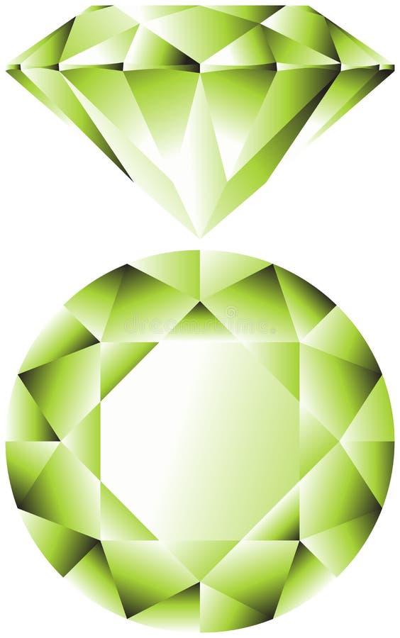 smaragd vektor illustrationer