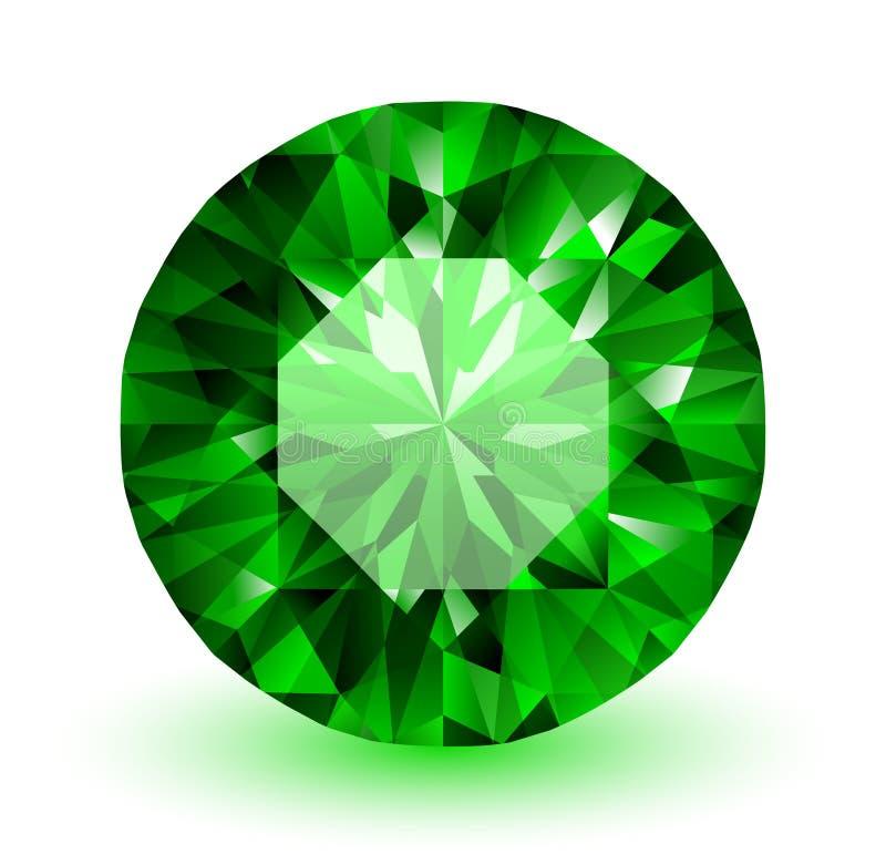 smaragd stock illustrationer