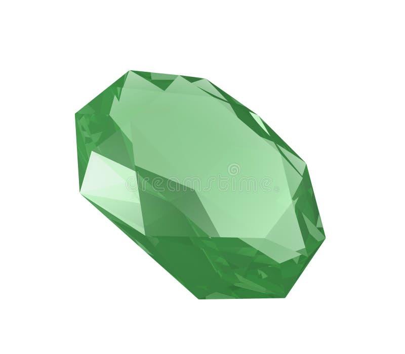 Smaragd auf Weiß lizenzfreie abbildung