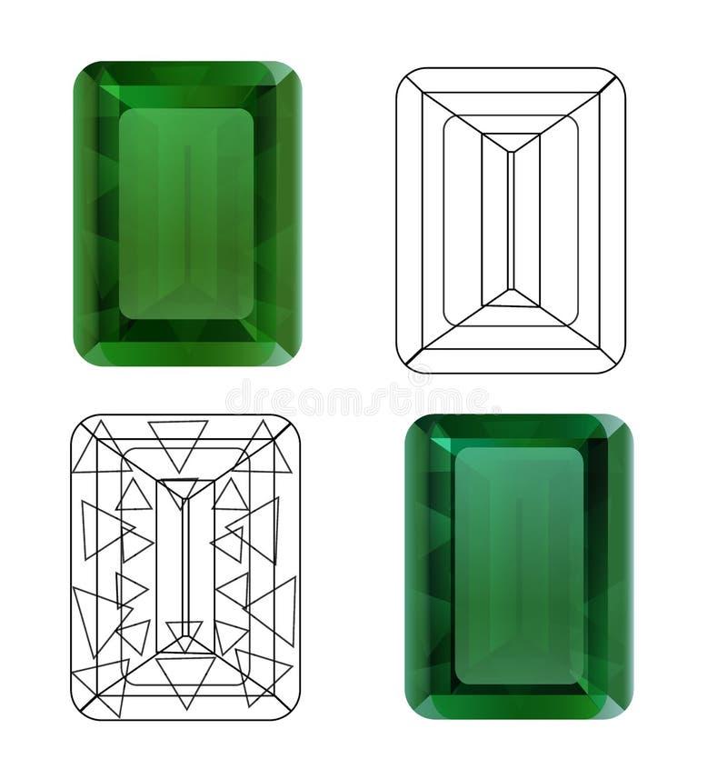 Smaragd für Ihr Design vektor abbildung