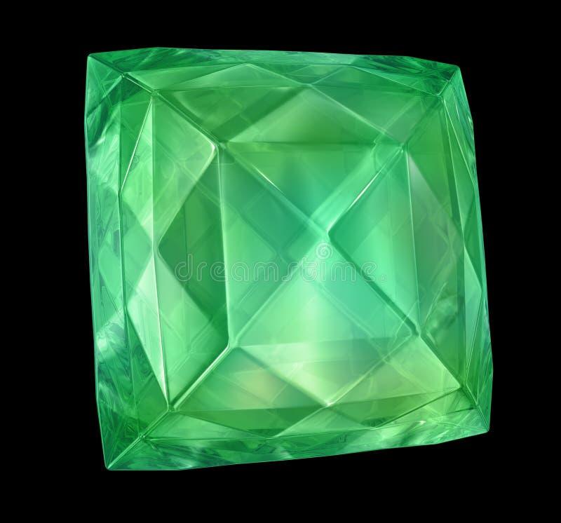 Smaragd getrennt auf Schwarzem vektor abbildung