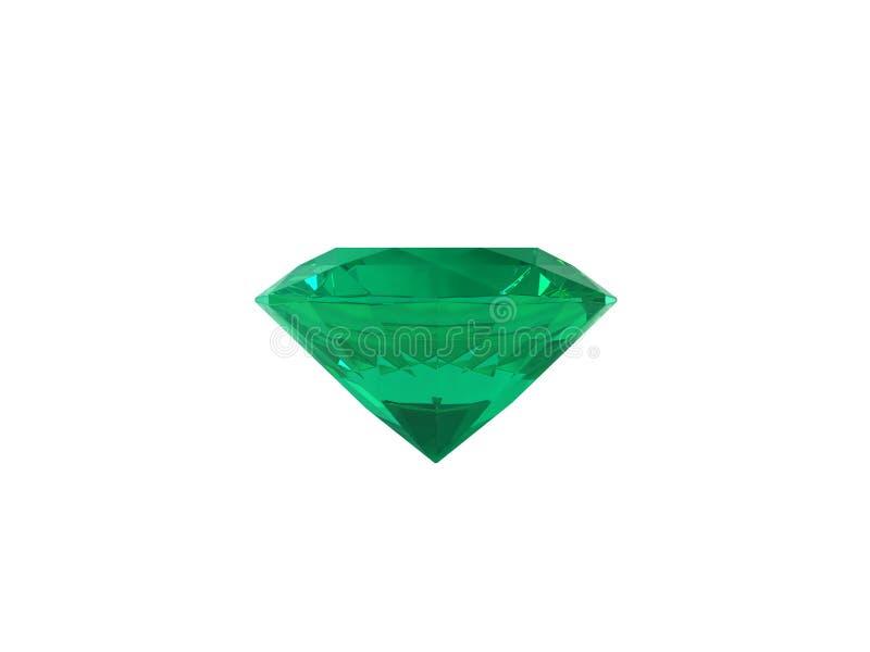 Smaragd getrennt auf weißem Hintergrund. stock abbildung