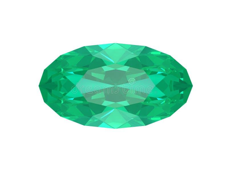 Smaragd getrennt auf weißem Hintergrund vektor abbildung