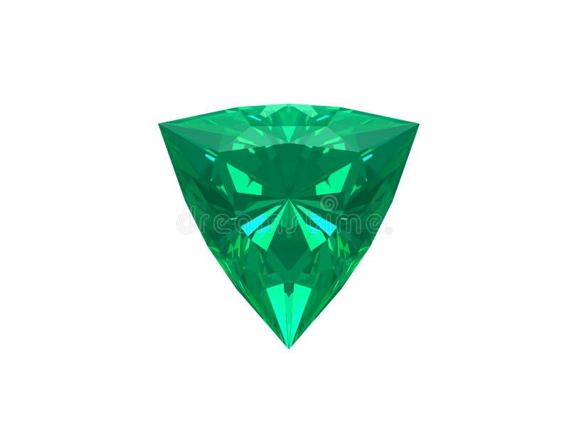 Smaragd getrennt auf weißem Hintergrund lizenzfreie abbildung