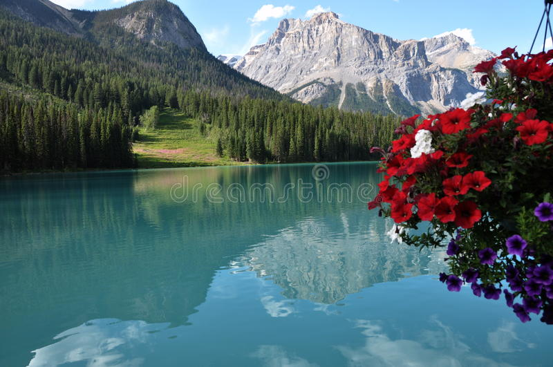 Smaragd Lake royaltyfria foton