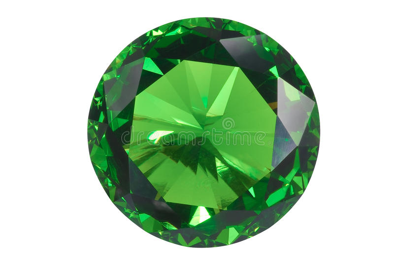 Smaragd trennte stockfoto