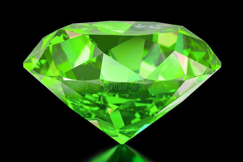 Smaragd, Wiedergabe 3D stock abbildung