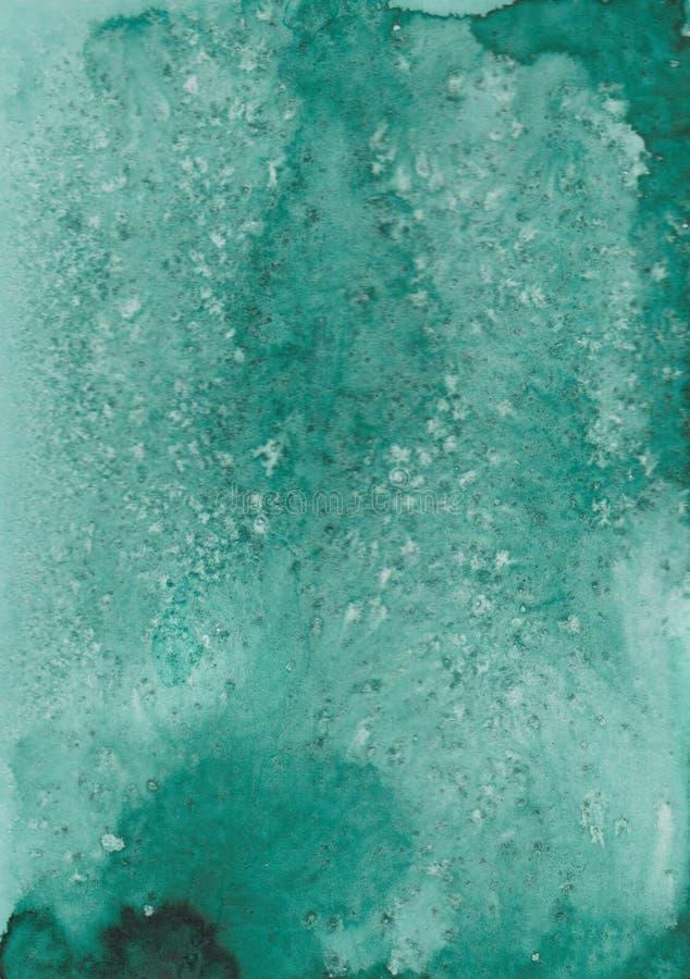 Smaragdbakgrund med vita färgstänk för din design royaltyfria foton