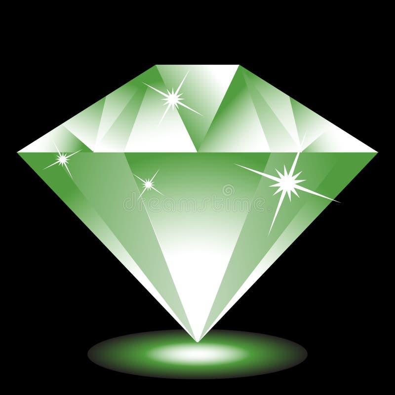 Smaragdgroen Juweel stock illustratie
