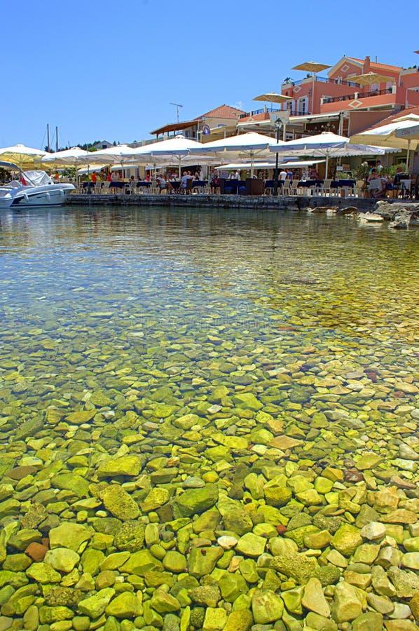 Smaragdgroen water Grieks eiland royalty-vrije stock fotografie