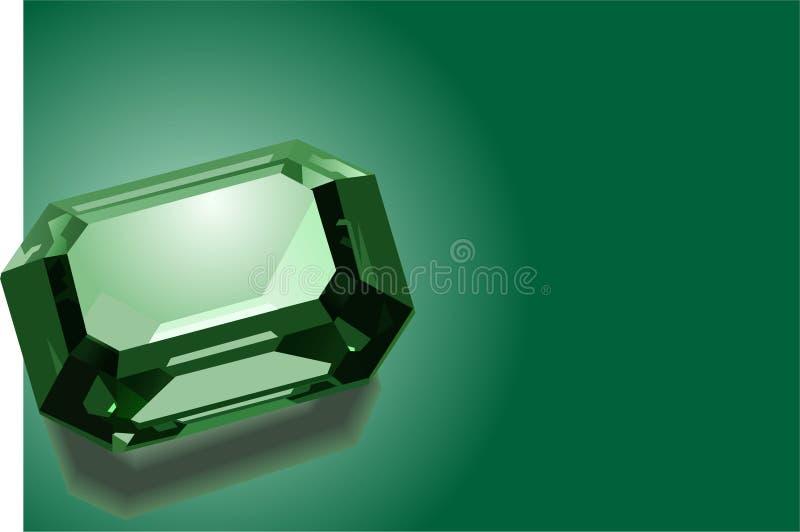 Smaragdgroene Achtergrond vector illustratie