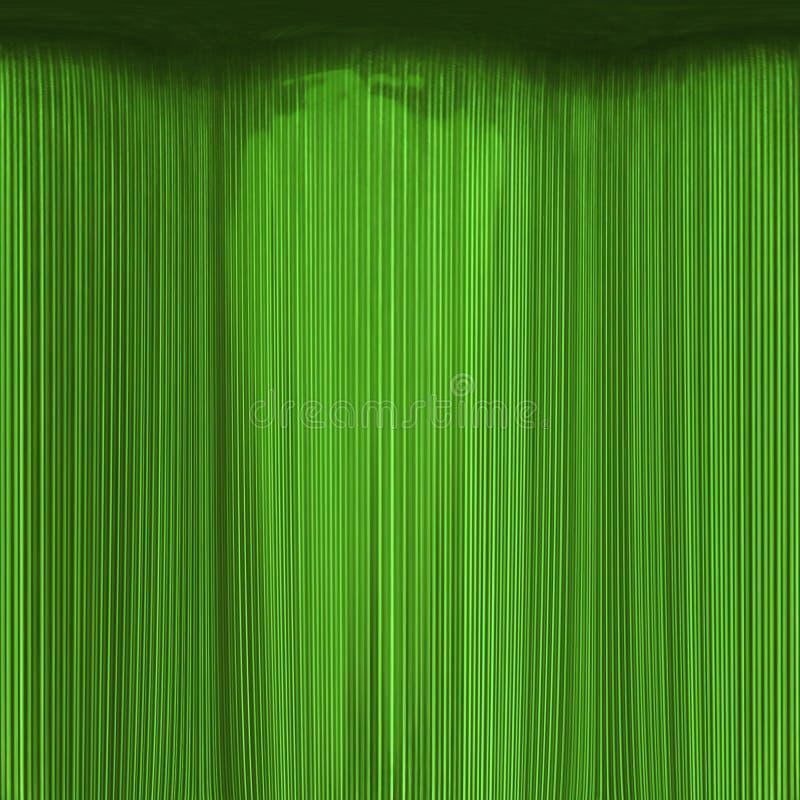 Smaragdgroene gordijntextuur stock illustratie