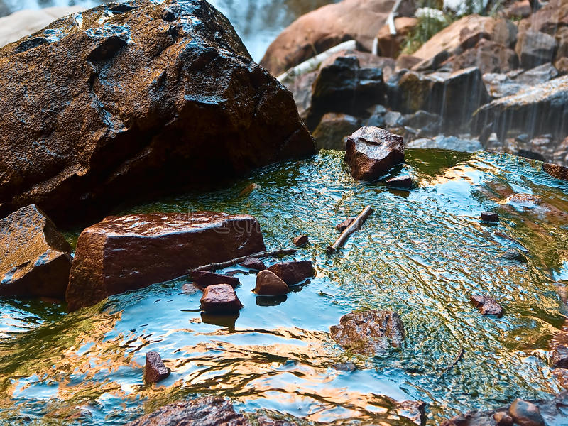 Smaragdgroene Pools, Zion Nationaal Park, Utah stock foto