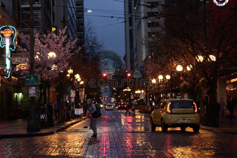 Smaragdgroene stad stock fotografie
