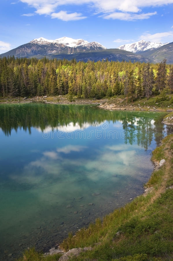 Smaragdsee. Banff Alberta, Kanada lizenzfreies stockfoto