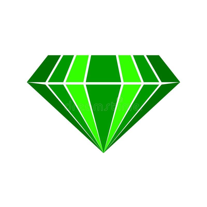 Smaragdvektorlogo stock illustrationer