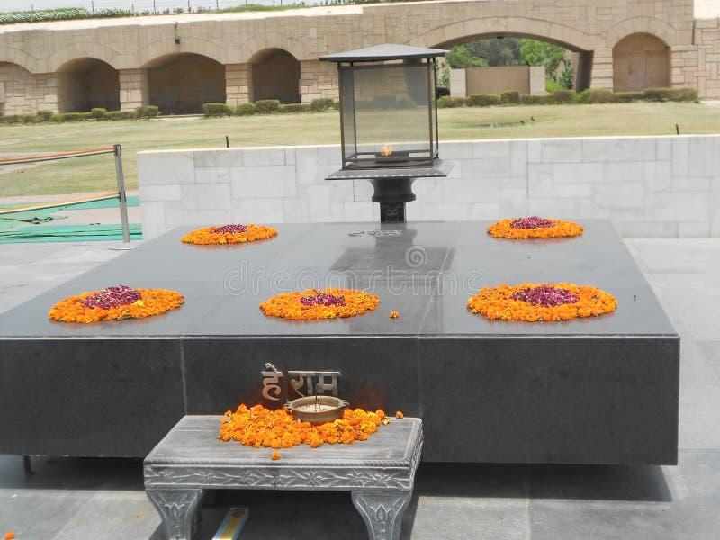 Smarak di Mahatma Gandhi a Nuova Delhi India immagine stock