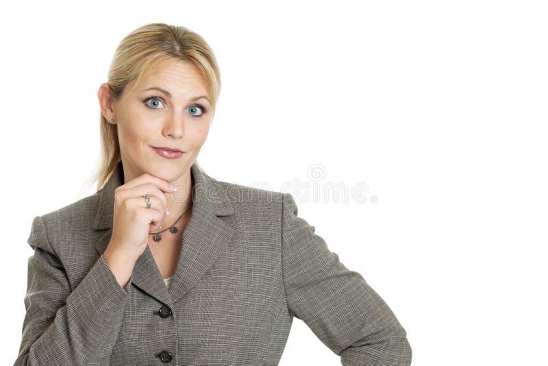 Smart affärskvinna arkivfoto