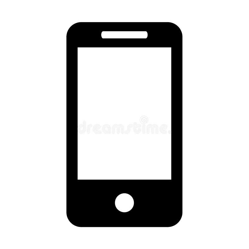 Smart /apple phone icon black royalty free illustration