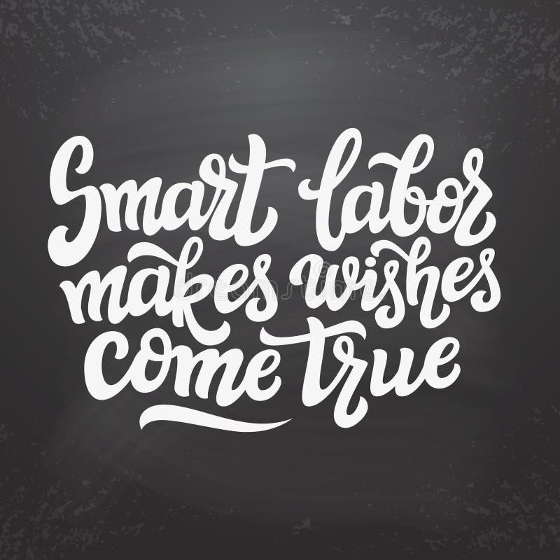 Smart-Arbeit lässt Wünsche in Erfüllung gehen lizenzfreie abbildung
