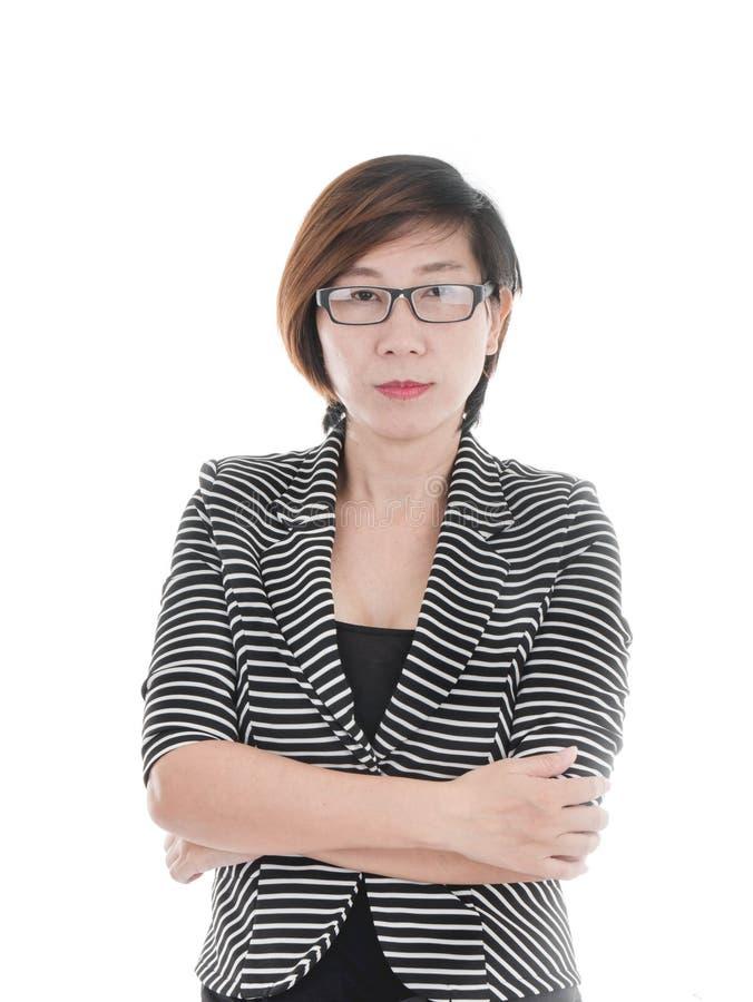 Smart Asian business woman stock photos