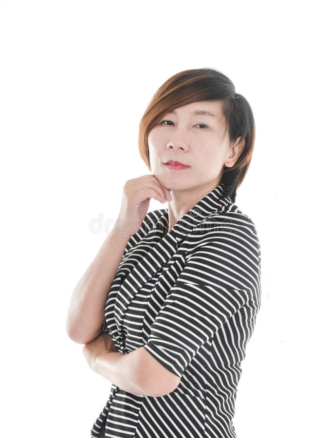 Smart Asian business woman royalty free stock image