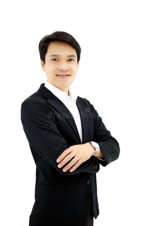 Smart asiatisk affärsman royaltyfria bilder
